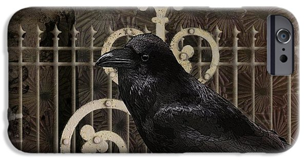 Headstones Digital Art iPhone Cases - Nevermore iPhone Case by Terry Fleckney