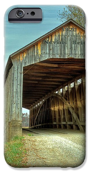 Nevins Covered Bridge iPhone Case by Jack R Perry