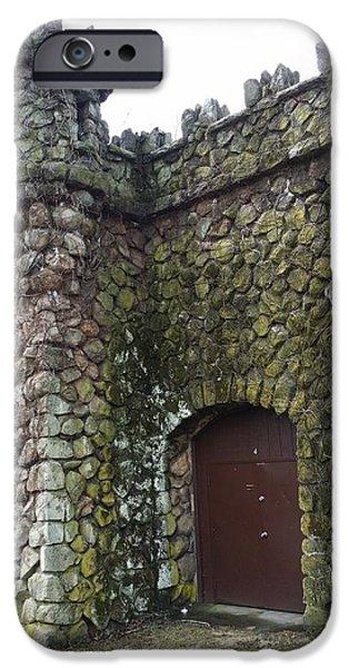 Red Rock iPhone Cases - Nevius Street Pumphouse Door iPhone Case by Mark Victors