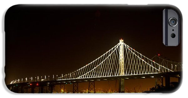 Bill Gallagher Photographs iPhone Cases - New Bay Bridge iPhone Case by Bill Gallagher