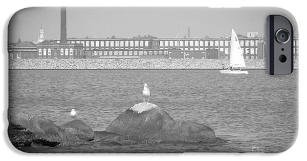 Newengland iPhone Cases - New Bedford Massachusetts Black White iPhone Case by Andrea Anderegg