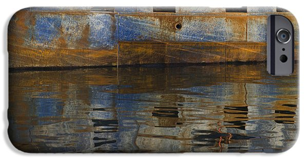 Brown Toned Art iPhone Cases - New Bedford Waterfront No. 6 iPhone Case by David Gordon