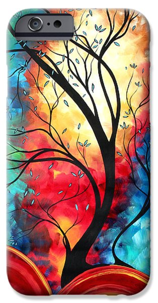 Whimsy Paintings iPhone Cases - New Beginnings Original Art by MADART iPhone Case by Megan Duncanson