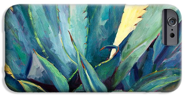 Plant iPhone Cases - New Blue Agave iPhone Case by Athena  Mantle