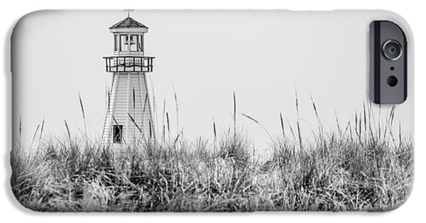 White House iPhone Cases - New Buffalo Lighthouse in Southwestern Michigan iPhone Case by Paul Velgos