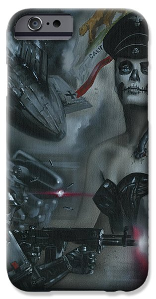 Galactic Paintings iPhone Cases - California Republic V1 iPhone Case by Luis  Navarro