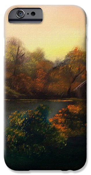 New day in Autumn Sold iPhone Case by Cynthia Adams