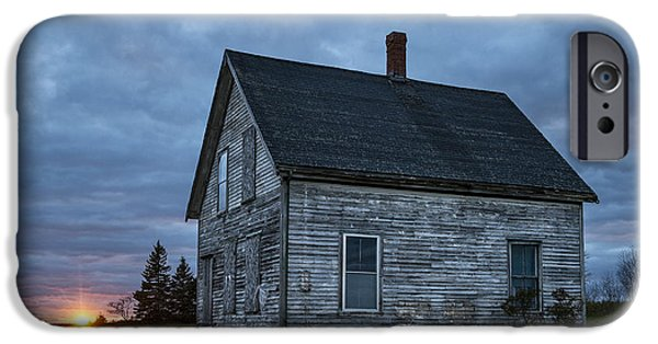 Old Maine Houses iPhone Cases - New Day Old House iPhone Case by John Greim