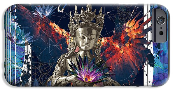 Hindu Goddess iPhone Cases - New Eagle iPhone Case by Niky Rahner