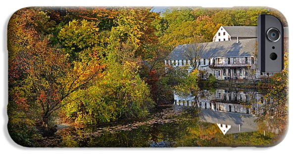 Oxford. Oxford Ma. Massachusetts iPhone Cases - New England Autumn Day iPhone Case by Toby McGuire