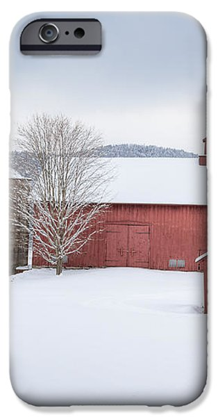New England Barns iPhone Case by Bill  Wakeley