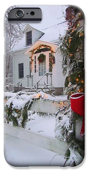Recently Sold -  - Maine iPhone Cases - New England Christmas iPhone Case by Elizabeth Dow