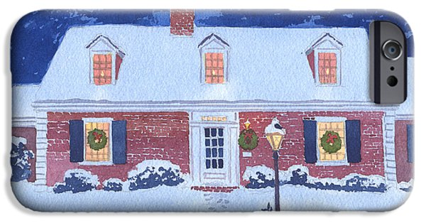 Wreath iPhone Cases - New England Christmas iPhone Case by Mary Helmreich