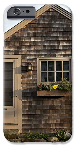 Facade iPhone Cases - New England Cottage iPhone Case by Heather Reeder