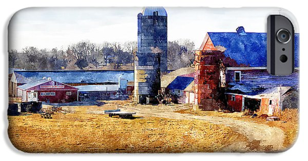 New England Dairy Farms iPhone Cases - New England Farm 2 iPhone Case by Rick Mosher
