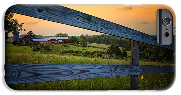 Farm Building iPhone Cases - New England Farm iPhone Case by Sabine Jacobs