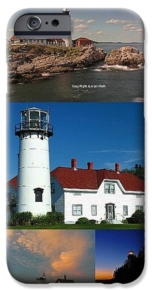 New England Lighthouse Collection iPhone Case by Juergen Roth