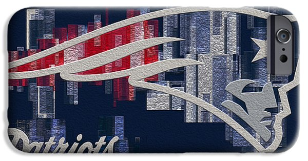 Division iPhone Cases - New England Partiots iPhone Case by Jack Zulli