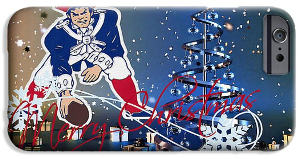 Patriots iPhone Cases - New England Patriot iPhone Case by Joe Hamilton