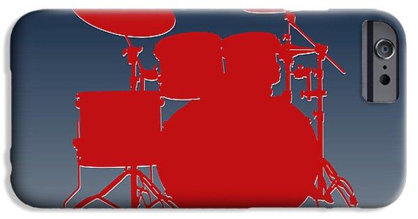 Patriots iPhone Cases - New England Patriots Drum Set iPhone Case by Joe Hamilton