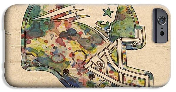 Best Sellers -  - Patriots iPhone Cases - New England Patriots Helmet Art iPhone Case by Florian Rodarte