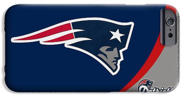 Patriots iPhone Cases - New England Patriots iPhone Case by Joe Hamilton