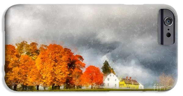 New England Village iPhone Cases - New England Village iPhone Case by Edward Fielding
