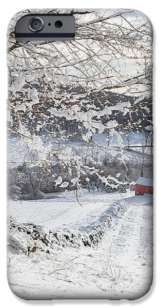 New England Winter Farms iPhone Case by Bill  Wakeley