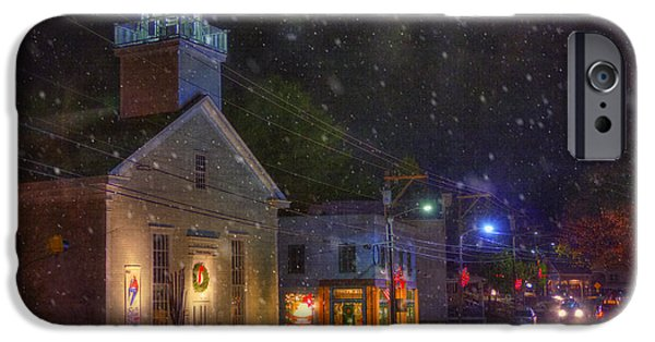 New England Snow Scene iPhone Cases - New England Winter - Stowe Vermont iPhone Case by Joann Vitali