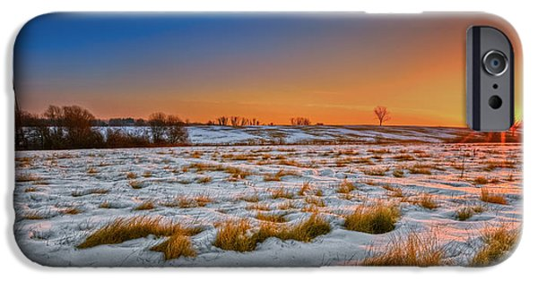 Connecticut Landscape iPhone Cases - New England Winter Sunrise iPhone Case by Bill  Wakeley