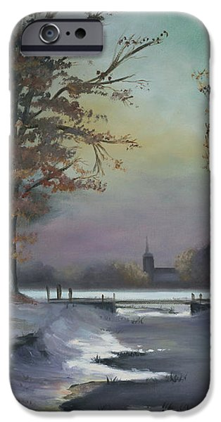 New England Winter Walk iPhone Case by Cecilia  Brendel