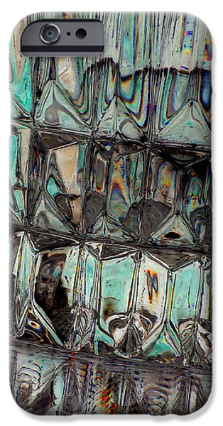 Abstracts Jewelry iPhone Cases - New Glass Abstract 18 iPhone Case by B L Hickman