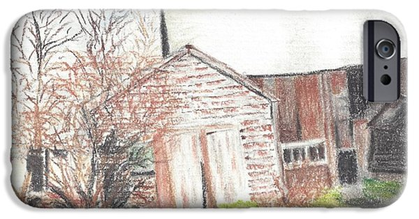 Old Barns Pastels iPhone Cases - New Hampshire Barn iPhone Case by Florence Fellows