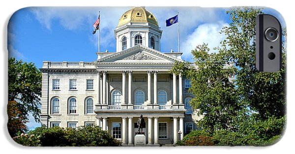 Concord Photographs iPhone Cases - New Hampshire State Capitol iPhone Case by Olivier Le Queinec