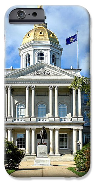 New Hampshire State Capitol iPhone Case by Olivier Le Queinec