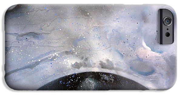 Dark Matter Paintings iPhone Cases - New Horizon iPhone Case by Dawn Derringer