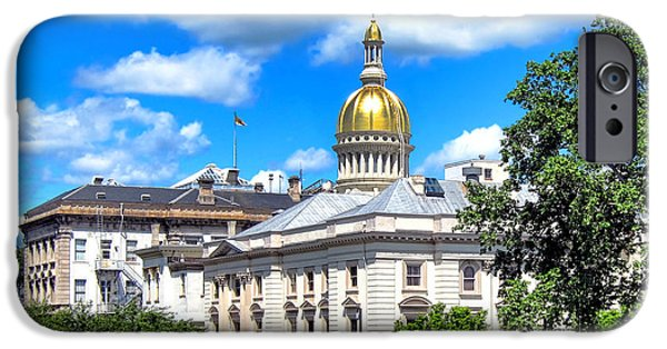 Politics iPhone Cases - New Jersey Capitol iPhone Case by Olivier Le Queinec