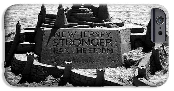 Sand Castles iPhone Cases - New Jersey Stronger than Storm iPhone Case by John Rizzuto