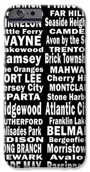 Ridgewood iPhone Cases - New Jersey Towns Canvas Art.com iPhone Case by Joans Craft World