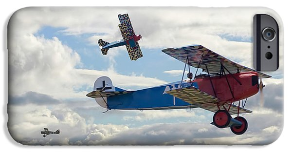 Fokker D V11 iPhone Cases - New Kid on the Block iPhone Case by Pat Speirs