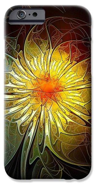 Floral Digital Art Digital Art iPhone Cases - New Life iPhone Case by Amanda Moore