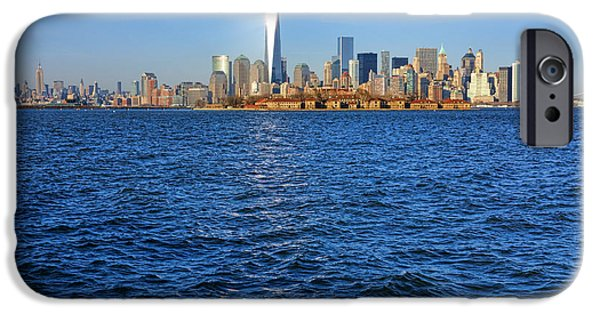 Hudson River iPhone Cases - New Light on the Water iPhone Case by Olivier Le Queinec