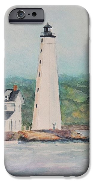 New England Lighthouse iPhone Cases - New London Harbor Lighthouse New London CT iPhone Case by Patty Kay Hall