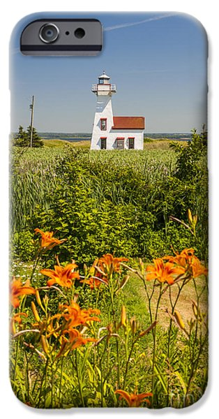 Province iPhone Cases - New London Range Rear Lighthouse iPhone Case by Elena Elisseeva