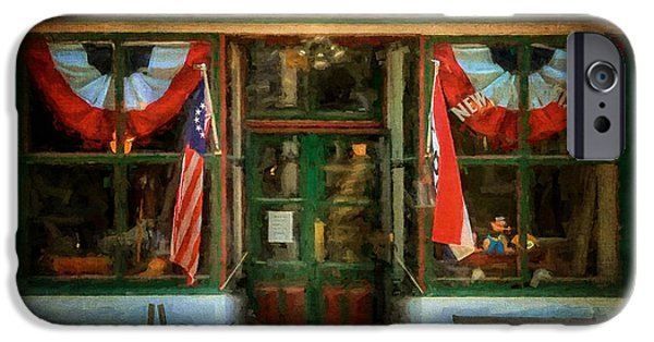 Store Fronts iPhone Cases - New Market General Store iPhone Case by Lois Bryan