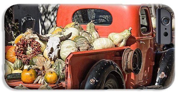 Farm Stand iPhone Cases - New Mexico Fall Harvest Truck iPhone Case by Steven Bateson