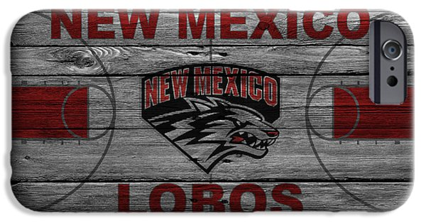 Division iPhone Cases - New Mexico Lobos iPhone Case by Joe Hamilton