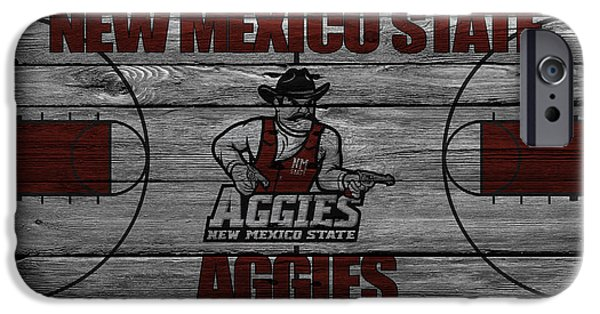 Dunk iPhone Cases - New Mexico State Aggies iPhone Case by Joe Hamilton