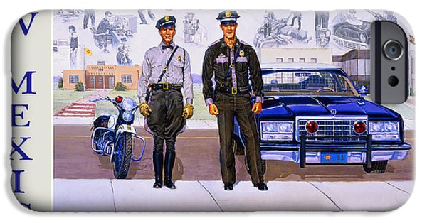 Santa iPhone Cases - New Mexico State Police Poster iPhone Case by Randy Follis