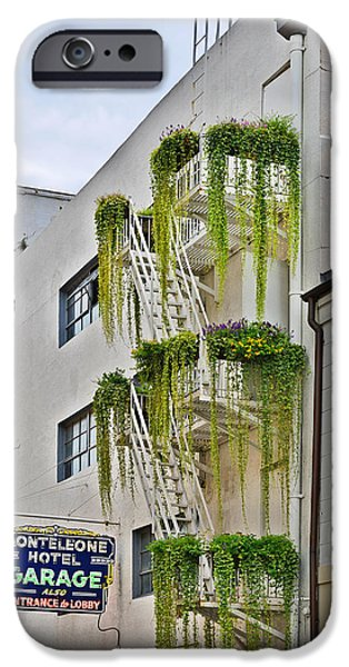 Balcony iPhone Cases - New Orleans Balcony Gardens iPhone Case by Christine Till